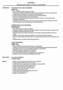 Cable Assembler Resume Samples