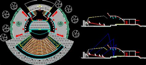 amphitheater dwg section  autocad designs cad