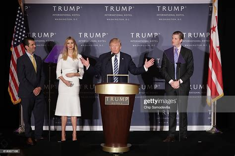 trump donald ribbon jr ivanka ceremony young washington hotel international republican holds cutting nominee eric presidential grand dc delivers beelden