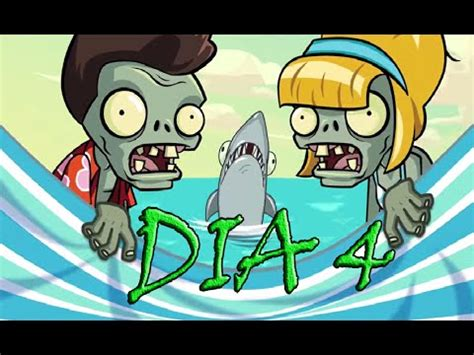 plants vs zombies 2 playa de la gran ola dia 4 big