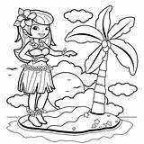 Coloring Hula Hawaiian Dancer Vector Woman Island Illustration Pages Clipart Dancing Clip Aloha Dance Skirt Luau Gograph Hibiscus Fotosearch Drawings sketch template