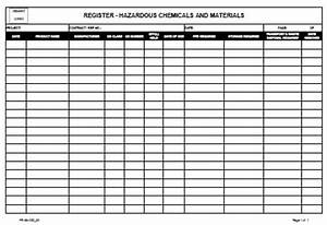 register hazardous chemical and materials o allsafety With hazardous substance register template