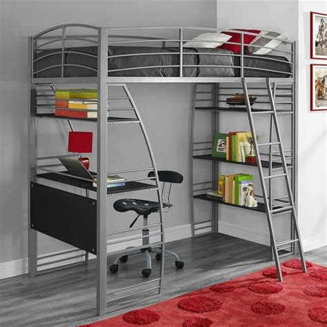 loft bed with desk and chair metal bunk bed desk student bedroom furniture