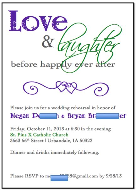 rehearsal dinner invitation template rehearsal invitations template best template collection