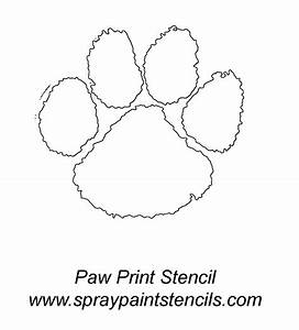 spray paint stencils panther paw print stencil outline With tiger paw template