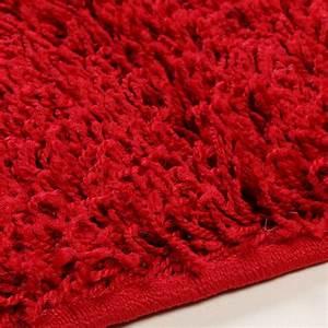 Tapis Shaggy Rouge : tapis shaggy rouge de salon vasco 4 ~ Teatrodelosmanantiales.com Idées de Décoration