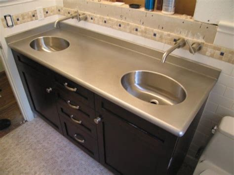 stainless steel bathroom countertops 15 best images about bathroom countertops on