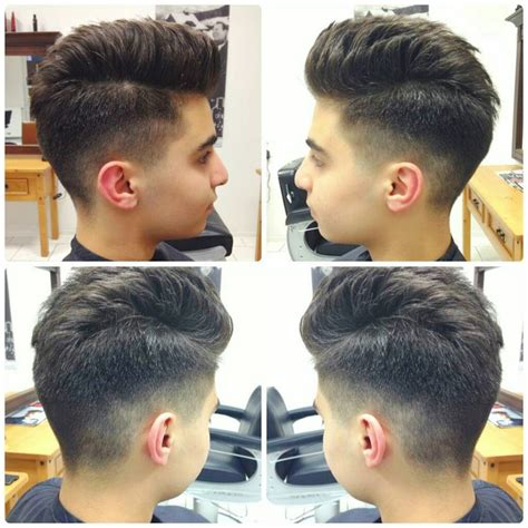 indian undercut hairstyle  men  view