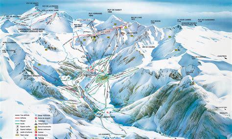 plan des pistes ski de descente besse le mont dore buron de besse loisirs