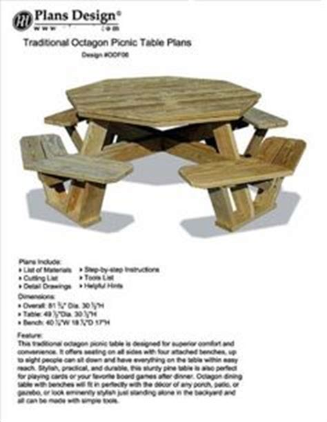 plans  walk  octagon picnic table