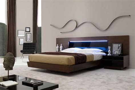 Contemporary Bed With Led Light Sj Belia Contemporary