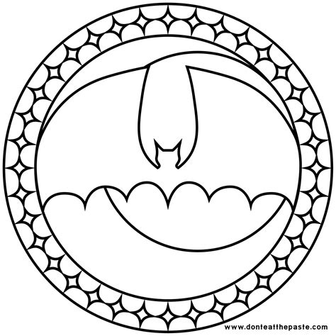 Dont Eat The Paste Stained Glass Bat Coloring Page