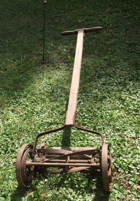 antique reel mower thriftyfun