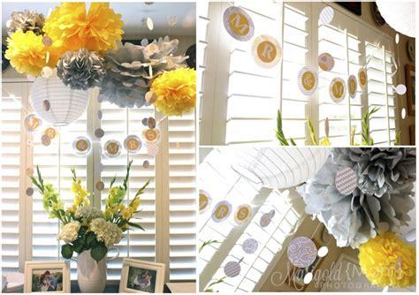 yellow  grey bridal shower  brielle