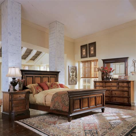 universal furniture brentwood panel bedroom set  tone cherry atg stores