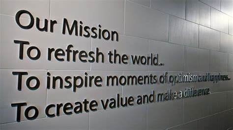 mission vision  valeurs  coca cola company