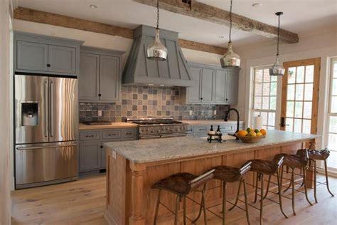 rustic grey kitchen cabinets cuisine rustique moderne 20 mod 232 les de cuisine d 4977