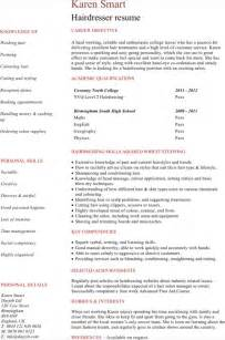 hairdressing cv template for excel pdf and word