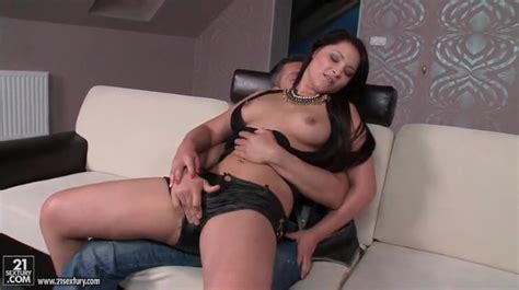 Chick In Sexy Leather Shorts Gives A Lap Dance Alpha Porno