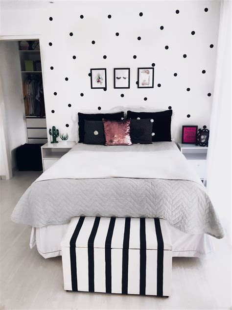 bedroom room quarto preto black branco white
