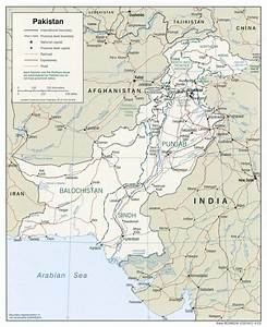 Map of Pakistan showing provinces Pakistan