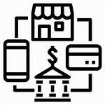 Banking Retail Icon Credit Shopping Internet Digital