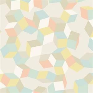 Des Couleurs Pastel : papier peint puzzle couleurs pastel et cubes ~ Voncanada.com Idées de Décoration
