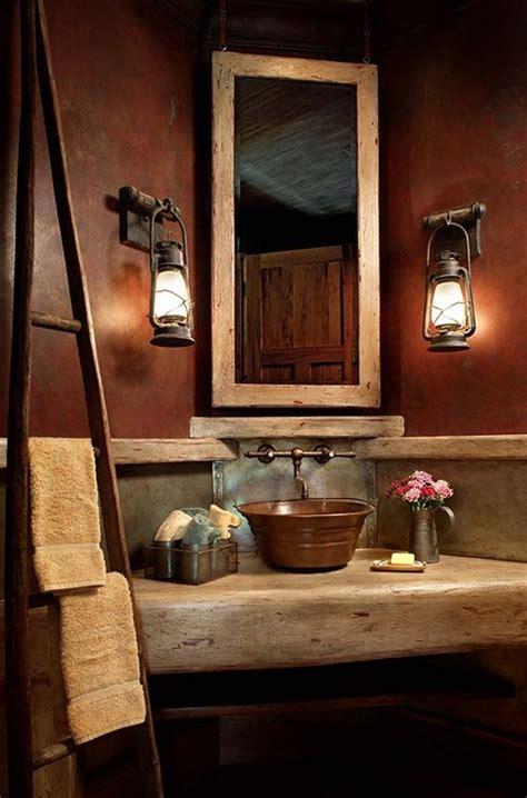 western bathroom decorating ideas western warmth the rustic bathroom