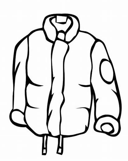 Coat Winter Clipart Jacket Cartoon Clip Rain