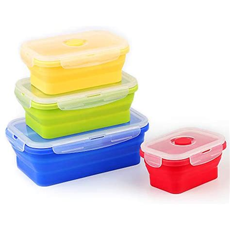 silicone food storage containers  airtight plastic