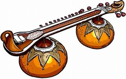 Instruments Indian Clipart Musical Veena Instrument Banjo