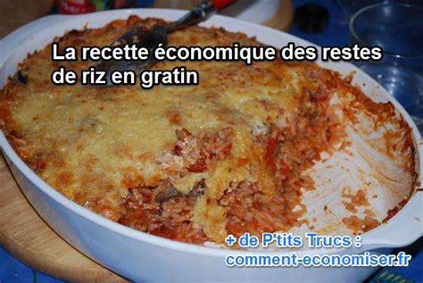 cuisiner le riz recette économique les restes de riz en gratin