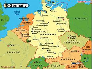 Almanya haritası ve uydu görüntüleri