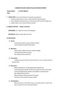 Science Lesson Plan Objectives