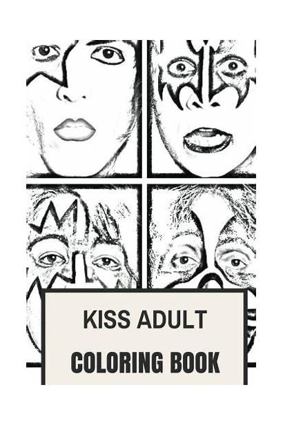 Coloring Kiss Rock Gene Simmons Adult Paul