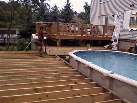 roundpooldeckplans deck  pool project multi