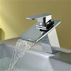 Robinet Lavabo Cascade : laiton cascade lavabo robinet ~ Edinachiropracticcenter.com Idées de Décoration