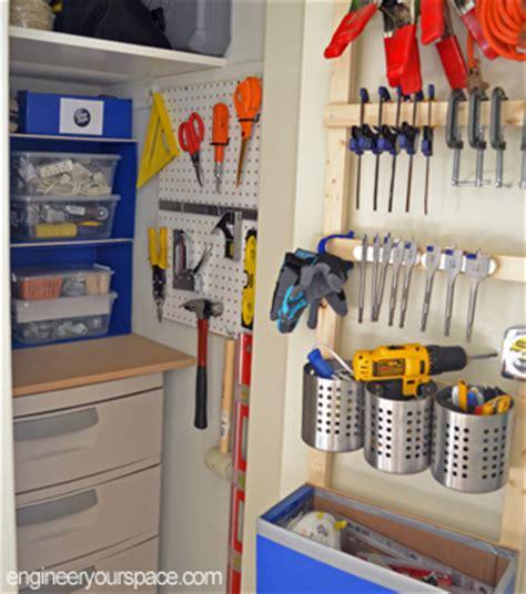 how to organize a small closet for tool storage smart