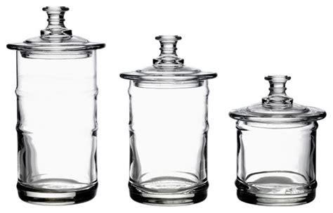 kitchen canisters and jars la rochere glass kitchen storage jars traditional