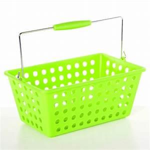 Paniere A Linge Plastique : panier de rangement avec anse plastique vert anis ~ Dailycaller-alerts.com Idées de Décoration