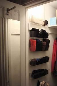 how to maximize narrow closet space to