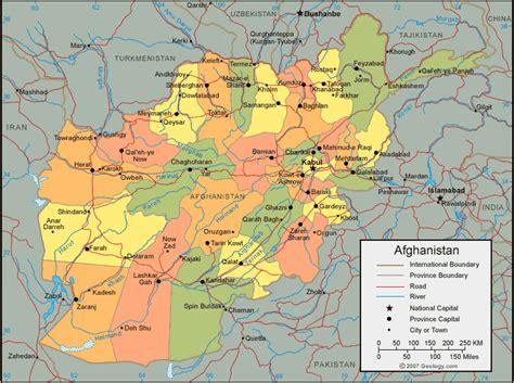 afghanistan map  satellite image