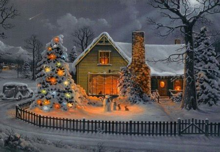christmas houses in snow house other abstract background wallpapers on desktop nexus image 1245698