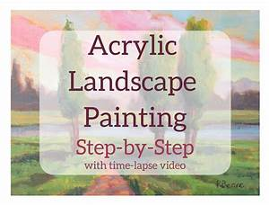 Learn How To Paint An Acrylic Landscape  Step