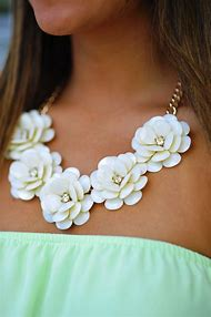 Best statement necklace ideas and images on bing find what you white flower statement necklace mightylinksfo