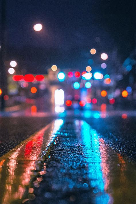 freeios rainy city night parallax hd iphone ipad