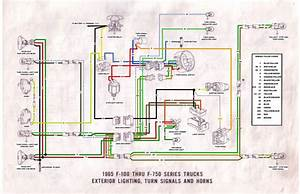 65 F100 Thru F750 Exterior Wiring Diagram