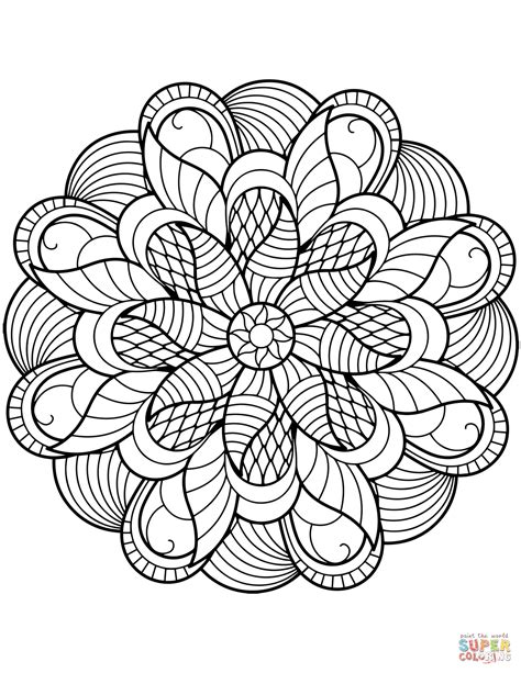 flower mandala coloring page  printable coloring pages