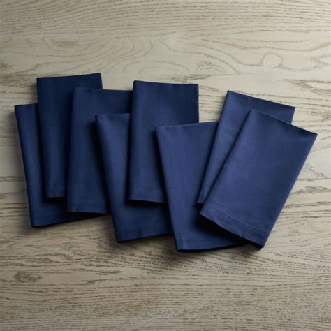 fete navy blue cloth napkins set   reviews crate