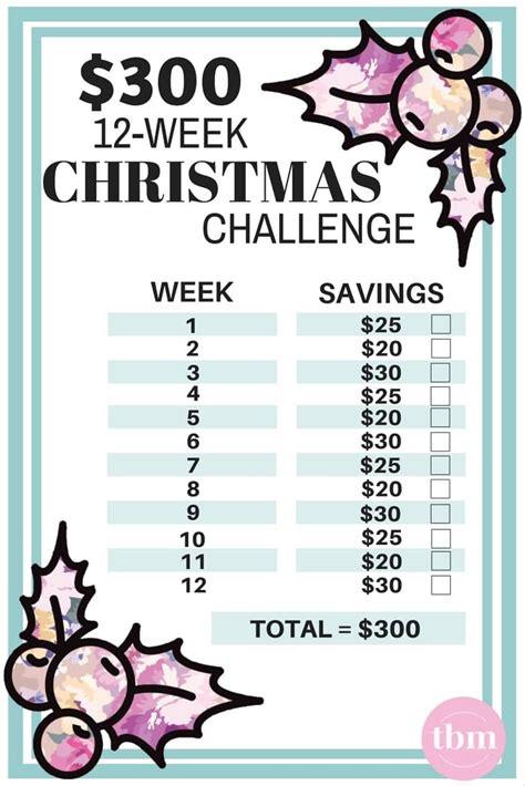 week christmas savings challenge  budget mom